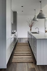 151 best kitchen images on pinterest pale pastel blue grey shaker kitchen cabinets brushed silver chrome handles marble benchtops