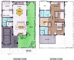 Floor Plan And Perspective House Perspective With Floor Plan House Design Plans