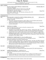 Basic Resume Format Examples by Example Of A Good Resume Format Sample Resume By Easyjob No