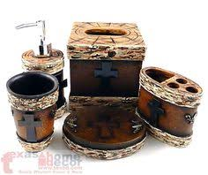 Rustic Bathroom Accessories Sets by Western Rustic Longhorn Bathroom Accessory Set 4 Pieces Soap Dish