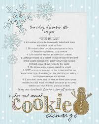 cookie exchange invite christmas cookie exchange pinterest
