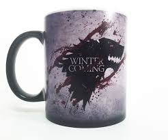 plush magic color changing mug winter is coming original magic