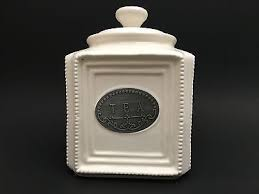thl kitchen canisters thl beaded shabby chic tea canister with lid 15 99 picclick