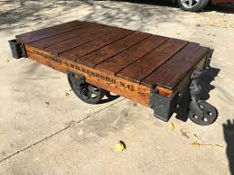 railroad cart coffee table lineberry factory cart railroad cart coffee table throughout