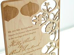 wooden wedding invitations real wood wedding invitations by invite design eco friendly