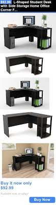 L Shaped Student Desk Office Furniture L Shaped Student Desk With Side Storage Home