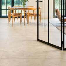 Laminate Flooring B Q Quick Step Tila Cream Travertine Tile Effect Laminate Flooring 1m