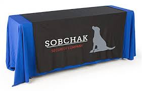 trade show table runner promotional table runners tradeshow linens in an array of colors