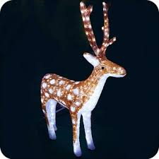 Christmas Decorations Reindeer Lights by Outdoor Lighted Reindeer Lights Acrylic Reindeer Outside Christmas