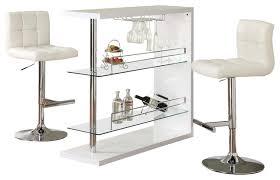 White Pub Table Set - rectangular wine bar table and stool set 3 piece set