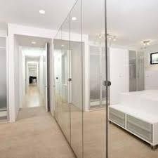 Mirrored Bifold Doors For Closets Mirrored Closet Doors For Brighter And Wider Interior