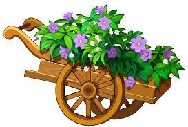 wooden garden wheelbarrow with flowers png clipart best web clipart