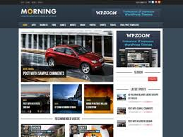 morning wordpress magazine style theme for online news with custom