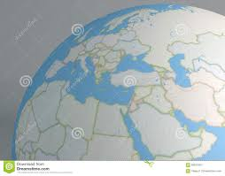 Political Map Middle East political map globe of europe middle east and north africa stock