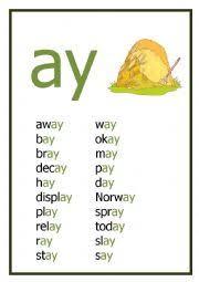 english worksheets ay reading worksheet