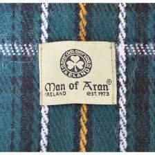 celtic irish gents acrylic scarf with green white u0026 yellow tartan