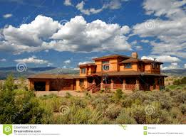 sprawling house in colorado stock image image 3521861
