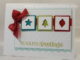 merry mini christmas cards www handstampedstyle com hand