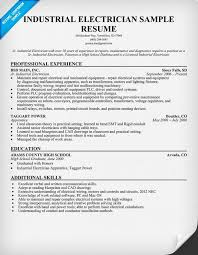 Maintenance Resume Examples by Electrician Resume Example Industrial Electrician Resume Sample