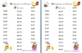 multiplication tests printable decomposition worksheets