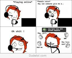 Girls Playing Video Games Meme - it s always the red heads too but guys know we love the attention
