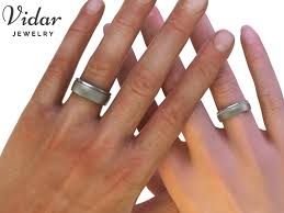 matching wedding bands his and hers eternity matching wedding band his and hers vidar jewelry
