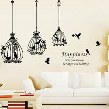 aliexpress com buy happiness bird cage removable wall sticker aliexpress com buy happiness bird cage removable wall sticker living room decals mural parlor kids bedroom home art decor from reliable bedroom wall art