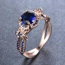 sapphire wedding ring vintage blue sapphire wedding ring 10kt yellow gold filled us size