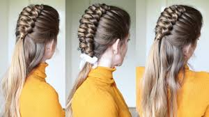hair style that is popular for 2105 half up half down infinity braid hairstyle braids hairstyles