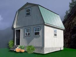 Gambrel Cabin Plans Two Story Garage Workshop Storage Building Guest House