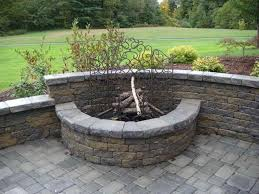 Firepit Insert Firepit In Backyard Landscaping Ideas Rustzine Home Decor
