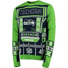seahawks light up sign seattle seahawks klew college navy light up ugly sweater