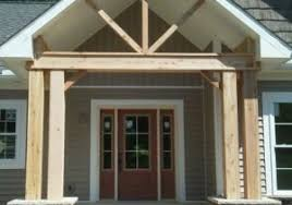 cedar porch posts exterior farmhouse with awning garden art garden