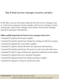 Food Service Resume Food Service Director Resume Resume For Your Job Application