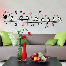decorating fine wall decals to beautify walls of your home awesome singing birds large wall decals stickers appliques home
