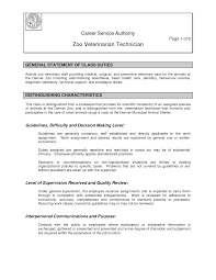 Support Technician Resume Veterinary Technician Resume Resume Example