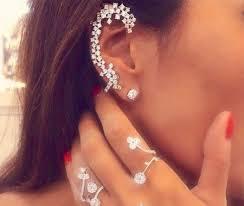 diamond helix stud ear cuff diamond ear cuff ear climber cartilage earring stud