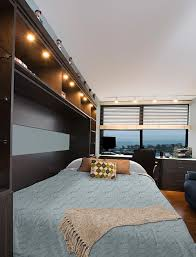 Horizontal Murphy Beds Horizontal Murphy Wall Bed With Tv Mounted To Bed Panel
