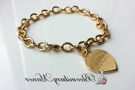gold tag bracelet images Tiffany co k gold return to heart charm tag bracelet large in jpg