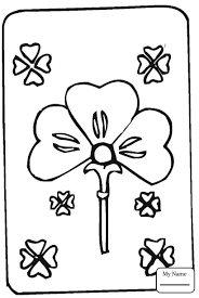 st patricks day four leaf clover holidays coloring pages for kids