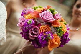 wedding flowers kansas city floral friday blooms in orange and fuchsia amigoni winery