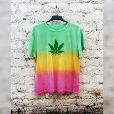 pot leaf shirt in rasta tie dye tshirt in unisex all sizes