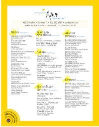 azur restaurant menu key west u2013 best key west restaurant menus