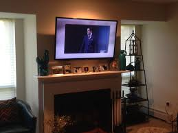 interior wall mount tv over fireplace with admirable how to hide