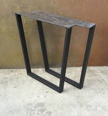 how to taper 4x4 table legs metal table legs taper set of 2 legs metals and etsy