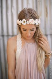 white flower headband floral boho flower crown boho flower