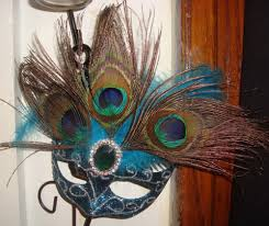 mardi gras mask for sale sold masquerade mardi gras mask peacock feather blue clip on wall