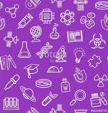 different types of purple science purple background contour icons monochrome seamless