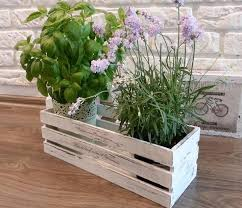 Shabby Chic Flower Pots by 18 Best Wooden Plant Pots Images On Pinterest Crafts Flowers