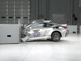 lexus rc truck 2015 lexus rc driver side small overlap iihs crash test youtube